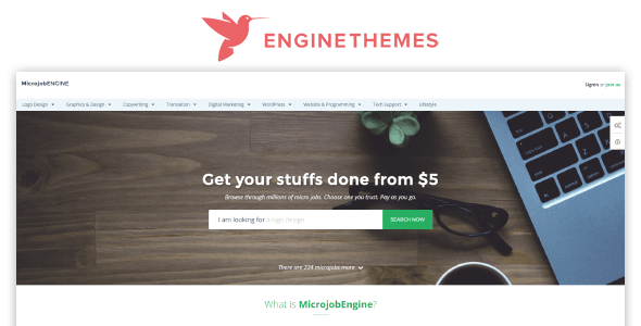 EngineThemes MicrojobEngine 1 3 6 Plus Package