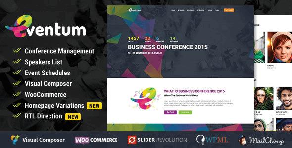 Eventum 2 9 – Conference & Event WordPress Theme