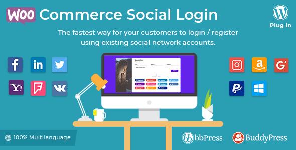 WooCommerce Social Login 1 9 5 – WordPress Plugin