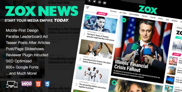 Zox News 3 2 0 – Professional WordPress News & Magazine Theme NULLED